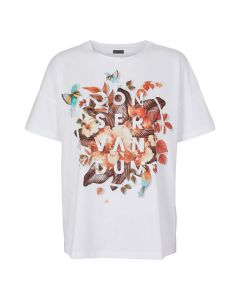 T-shirt with print and text