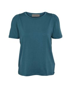Light T-shirt with gathering on the shoulders