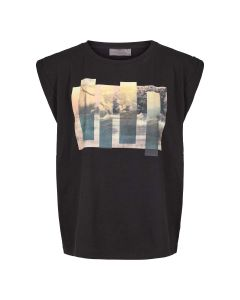 Sleeveles top with photoprint