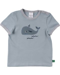 HELLO short sleeve T-shirt with a whale