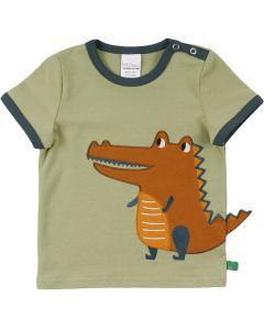 HELLO short sleeve T-shirt with a crocrodile