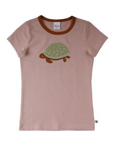HELLO T-shirt with embrodery of a turtle