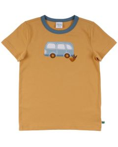 HELLO T-shirt with bus embrodery