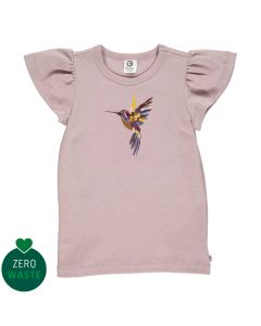Top with butterfly sleeves and embrodery