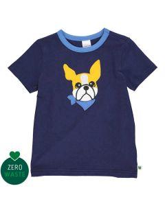 T-shirt with embrodery of a dog