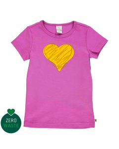 T-shirt with heart embrodery