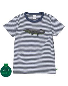 T-shirt with a crocodile