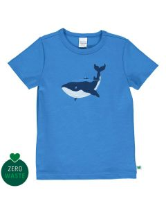 T-shirt with embroidery of a whale