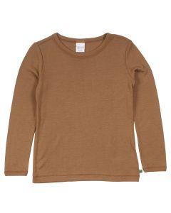 WOOL T-blouse in merino wool