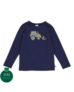 Longsleeve top with tractor embrodery