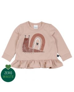 SNAIL top with peplum and snail embrodery
