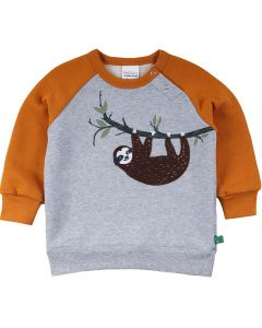 SLOTH sweatshirt with application of a sloth