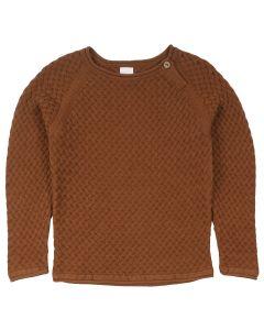 KNIT WEAVE sweatshirt in organic cotton