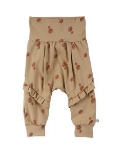 BERRY pants with print and ruffles