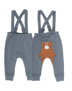 BEAR suspender pants with a bear on the back