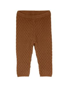 KNIT WEAVE pants in organic cotton -BABY