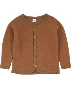 WOOL fleece jacket in merino wool