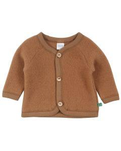 WOOLLY jacket in organic merino-wool fleece -BABY