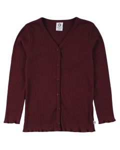 COZY RIB cardigan with buttons