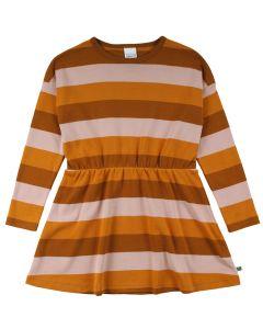 STRIPE dress in organic cotton