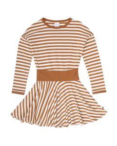 STRIPE full circle dress