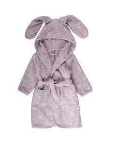 Bathrobe with bunny ears in organic cotton