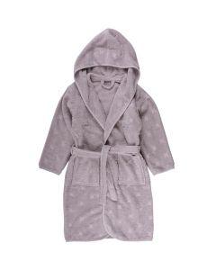 Bathrobe with hood in organic cotton