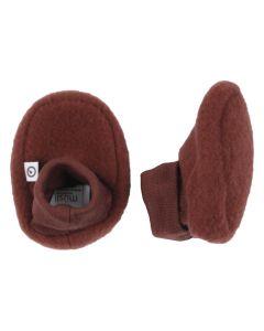 WOOLLY booties in merino-wool fleece