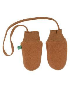 WOOL mittens in merino-wool fleece
