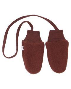 WOOLLY mittens in organic merino-wool fleece