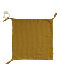 FIGURE blankie with a teether