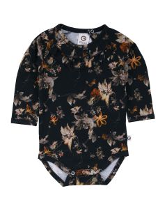 POETRY body with a dark floral print