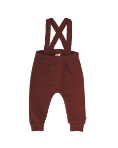 QUILT suspender pants in a thick quality